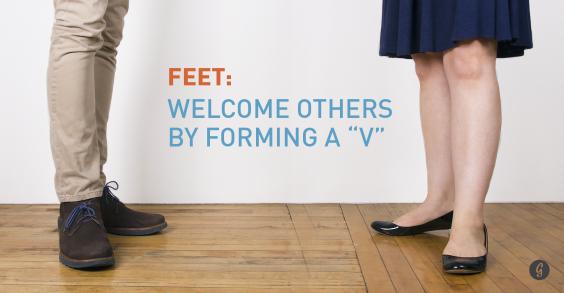 9 Body Language Hacks: Make a V With Feet