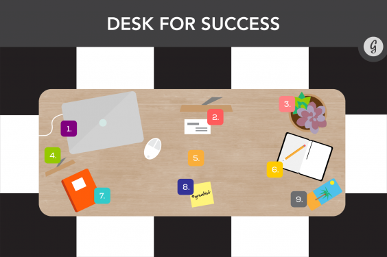 How to Feng Shui Your Desk: Desk for Success