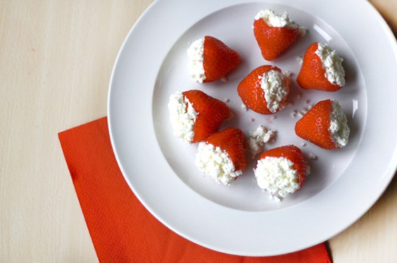 Feta-Stuffed Strawberries