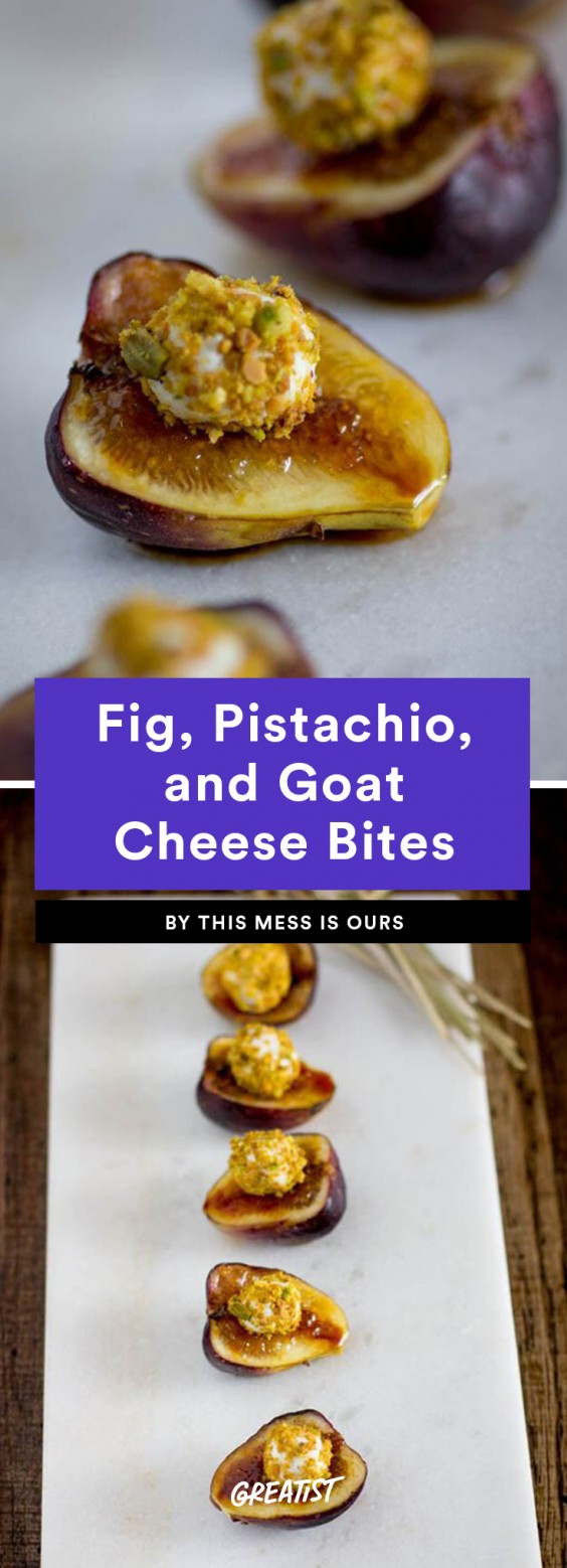 Fig, Pistachio, and Goat Cheese Bites