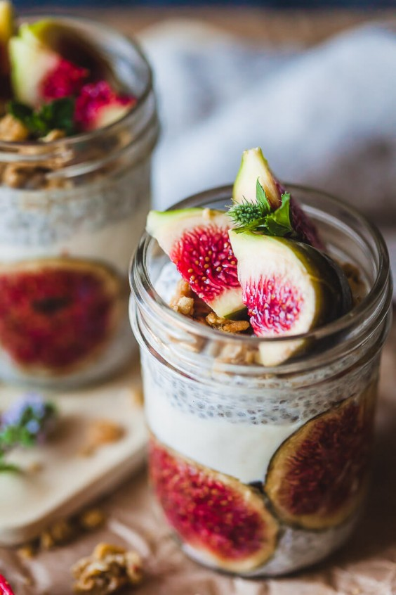 1 Almond Milk Fig Chia Pudding
