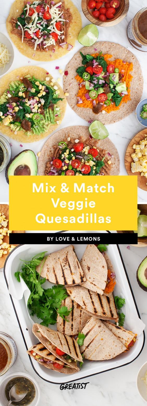 finger food: veggie quesadillas