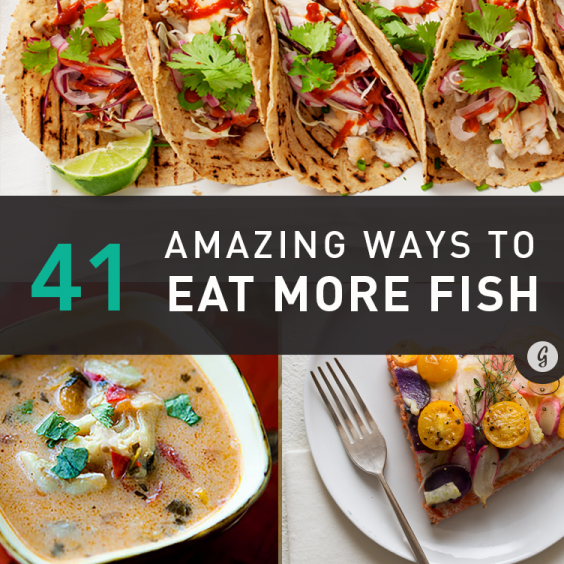 41 ways to transform fish from dull to delish greatist for Healthiest fish list