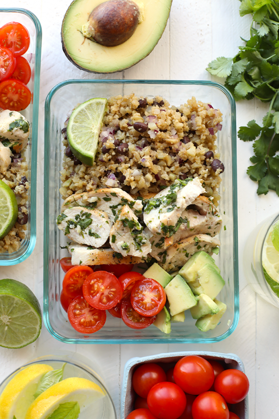 On the go recipes 32 healthy meals you can literally eat with cilantro lime chicken with cauliflower rice forumfinder Images