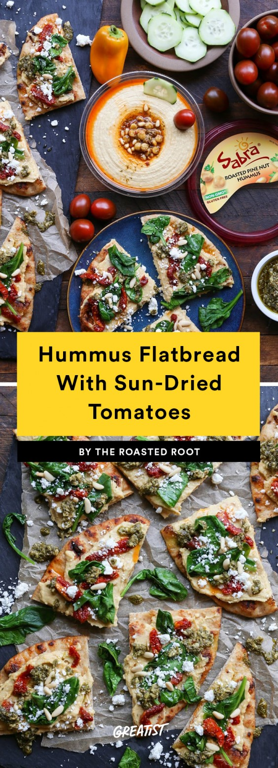 Hummus Flatbread Recipe
