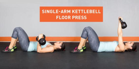 Marvelous Single Arm Kettlebell Floor Press