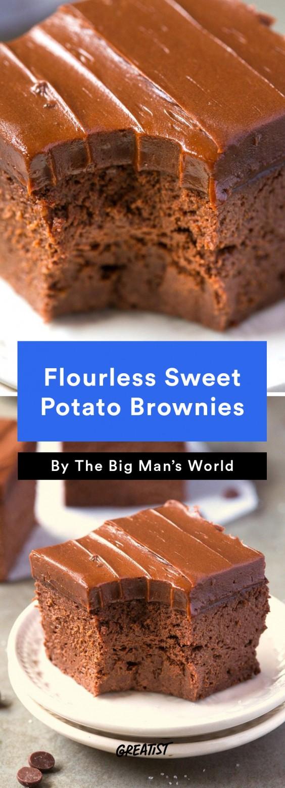 Flourless Sweet Potato Brownies Recipe