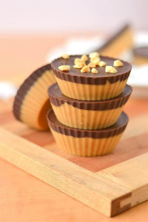 22. Dark Chocolate Peanut Butter Freezer Fudge Cups