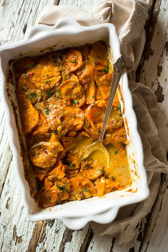 Paleo Dinners: Vegan Scalloped Sweet Potatoes