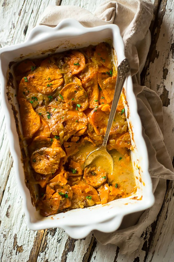 Paleo Dinners: Vegan Scalloped Sweet Potatoes