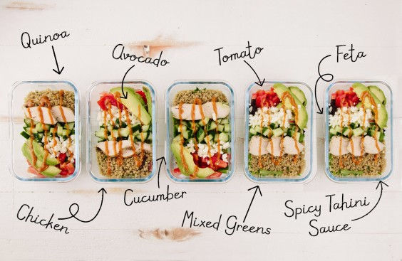 Meal prep lunch idea spicy chicken for lunch all week greatist pin it forumfinder Image collections
