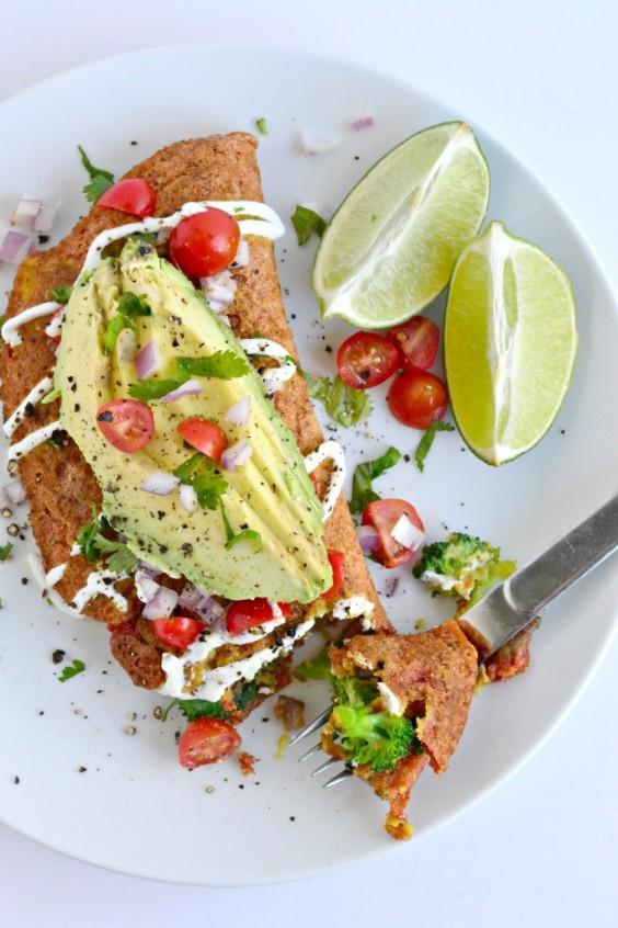 13. Vegan Chickpea Omelet