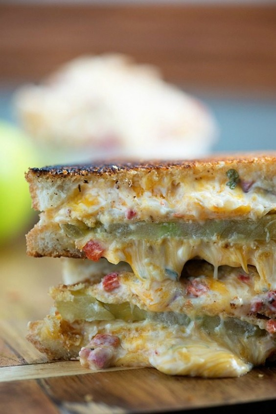 Bacon And Fried Green Tomato Pimento Grilled Cheese Recipe ...