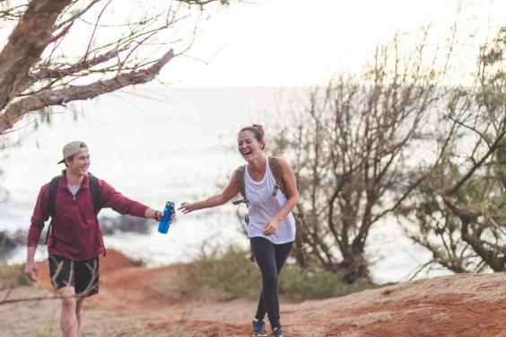 Hiking: friends