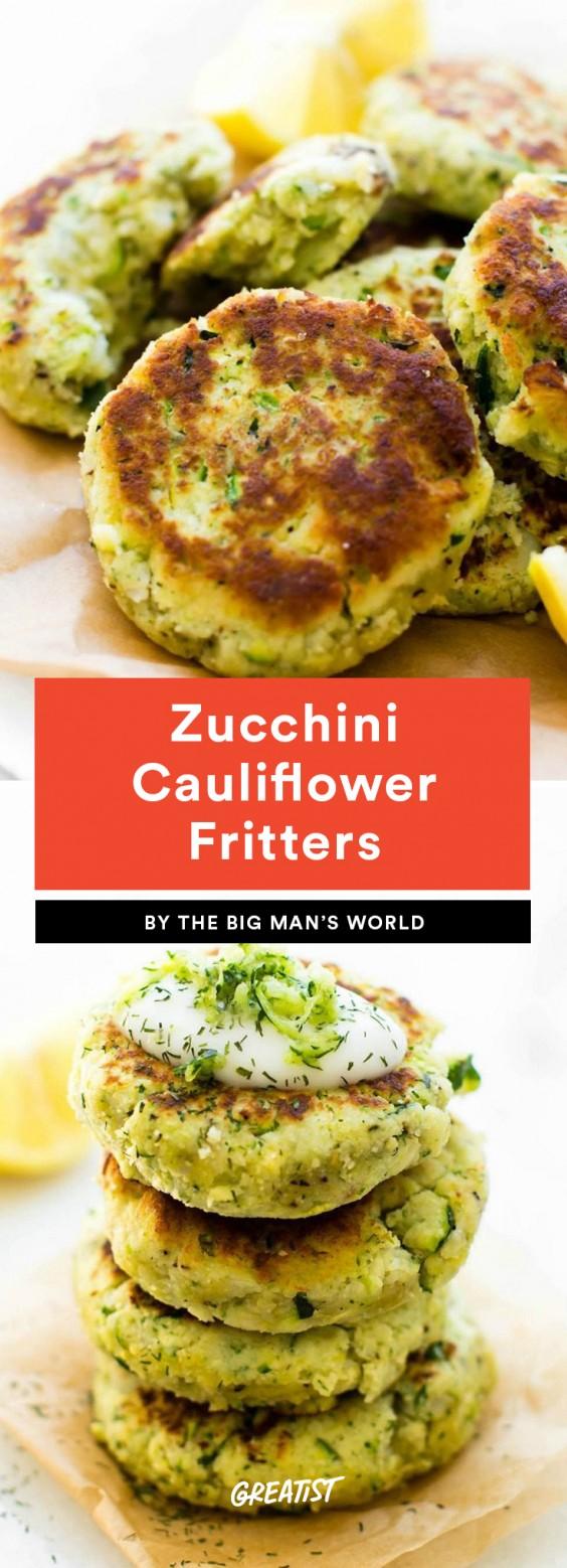 Zucchini Cauliflower Fritters