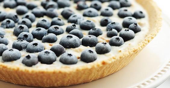 Frozen Blueberry Coconut Pie