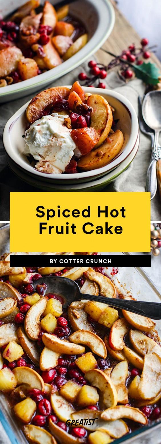 Spiced Hot Fruit Bake Recipe