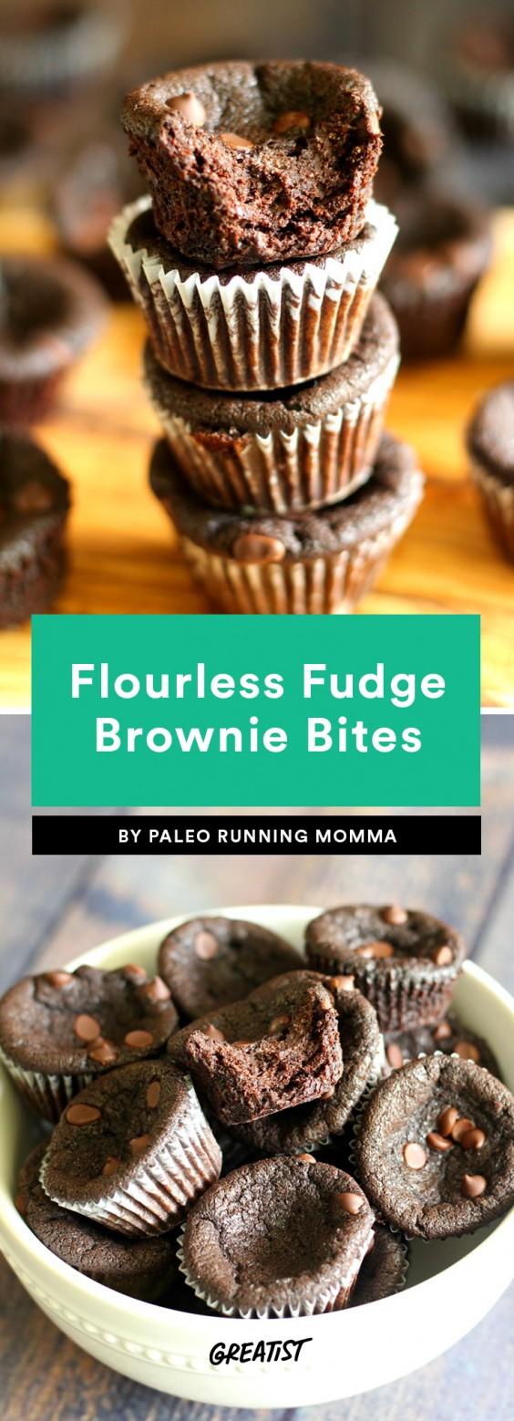 Flourless Fudge Brownie Bites Recipe