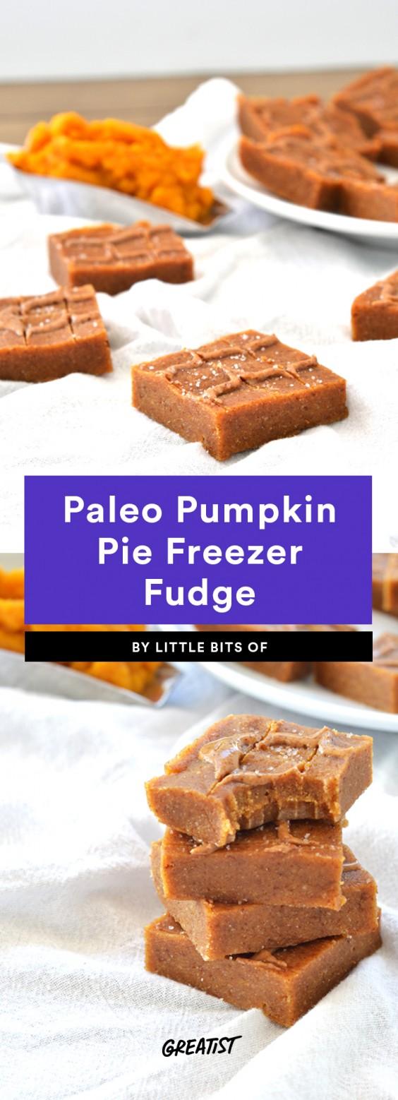 Paleo Pumpkin Pie Freezer Fudge Recipe