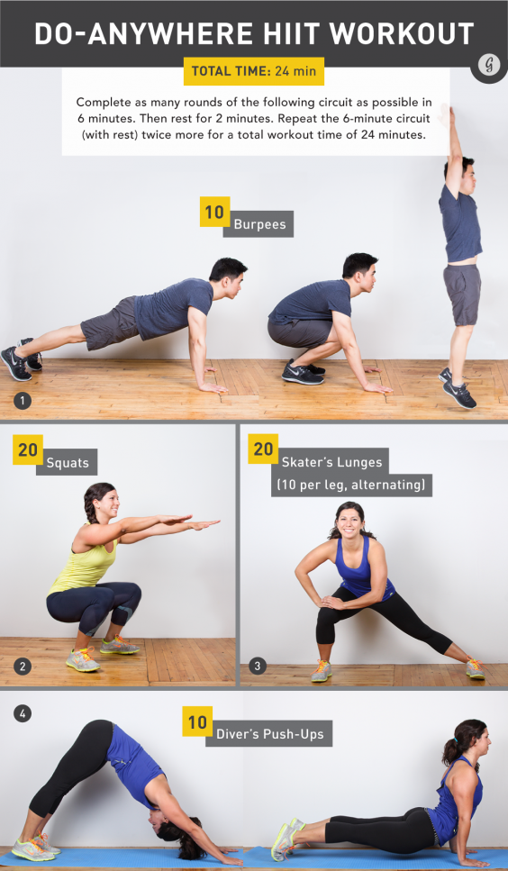 A No-Equipment, Full-Body Workout in Just 24 Minutes