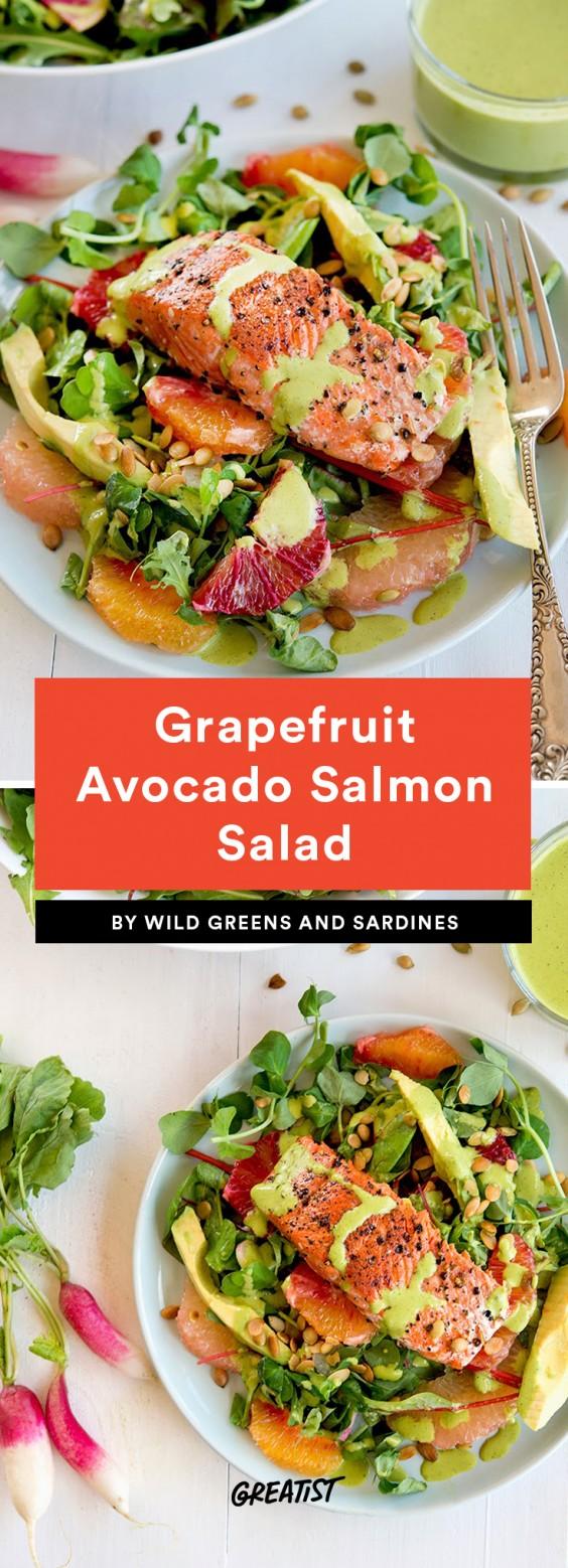Grapefruit Avocado Salmon Salad Recipe