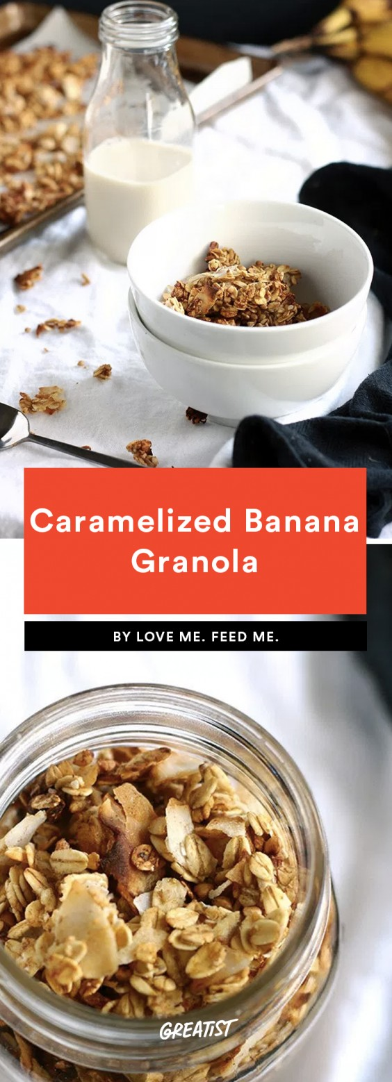 Caramelized Banana Granola