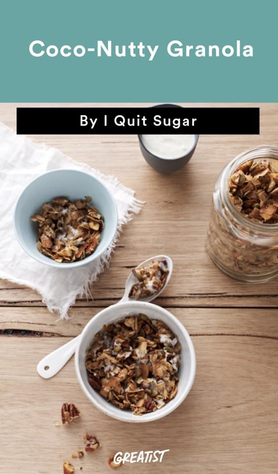 Coco-Nutty Granola I Quit Sugar