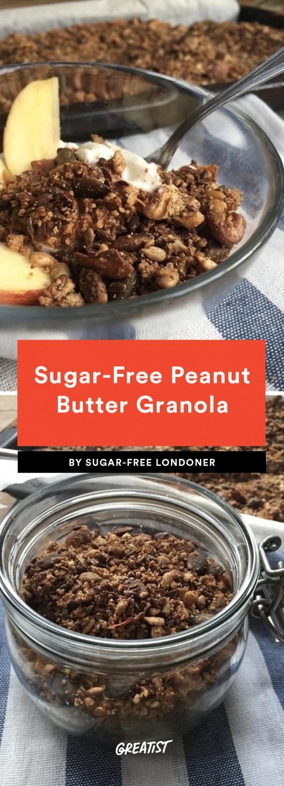 Sugar-Free Peanut Butter Granola