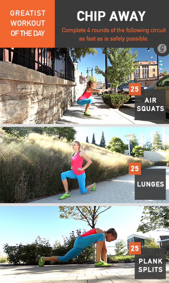 Greatist Workout of the Day: Chip Away