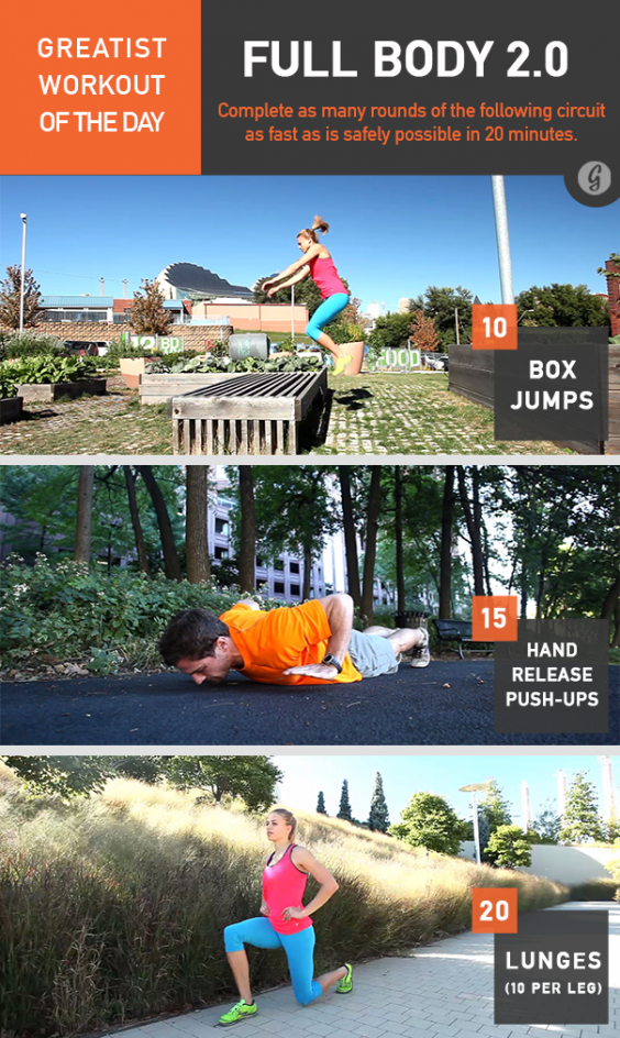 Greatist Workout of the Day: Full Body 2.0