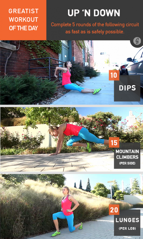 Greatist Workout of the Day: Up 'n Down