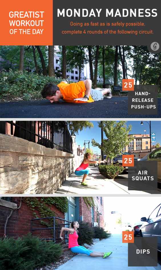Greatist Workout of the Day: Monday Madness