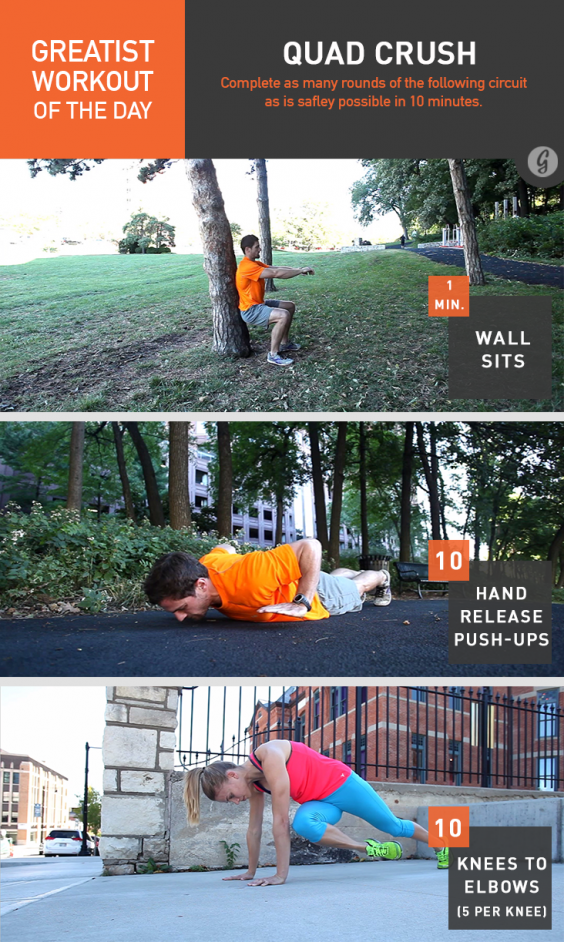 Greatist Workout of the Day: Quad Crush