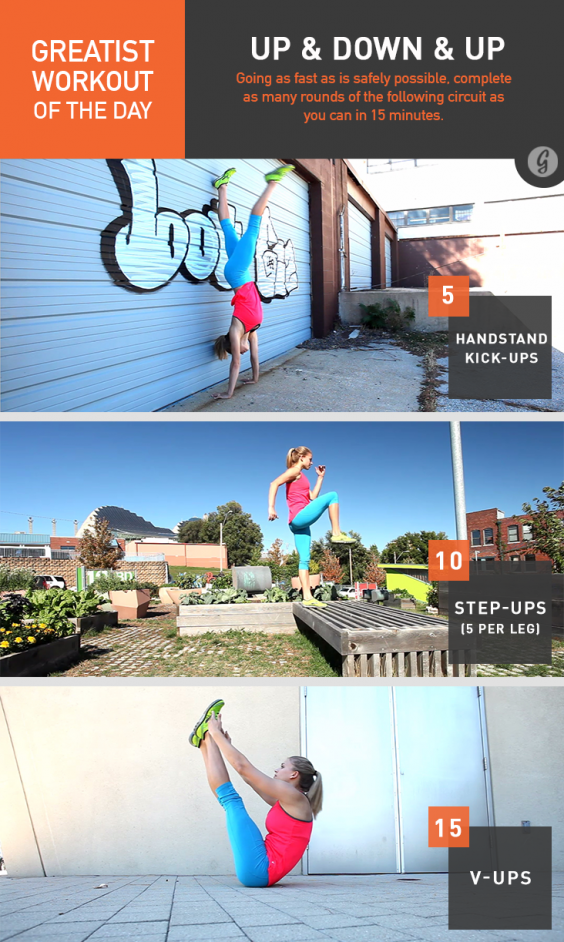 Greatist Workout of the Day: Up & Down & Up