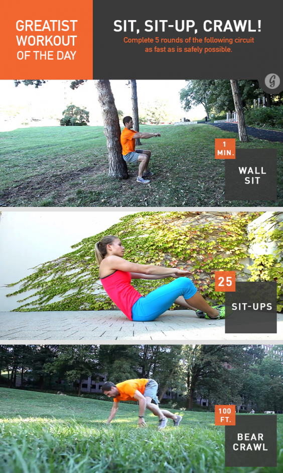 Greatist Workout of the Day: Sit, Sit-Ups, and Crawl!