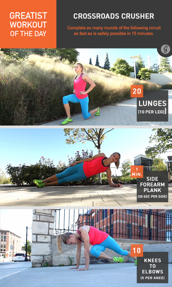 Greatist Workout of the Day: Crossroads Crusher