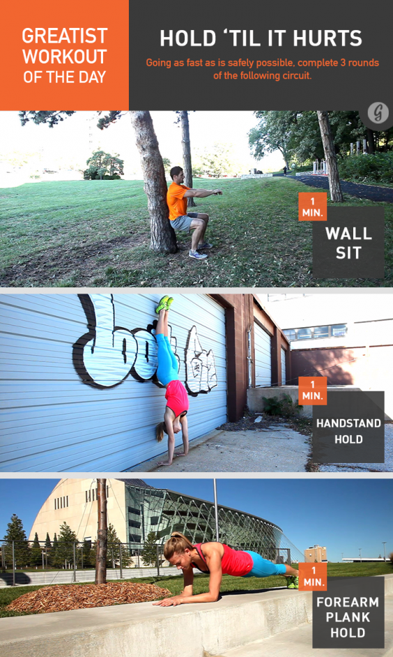 Greatist Workout of the Day: Hold Until It Hurst