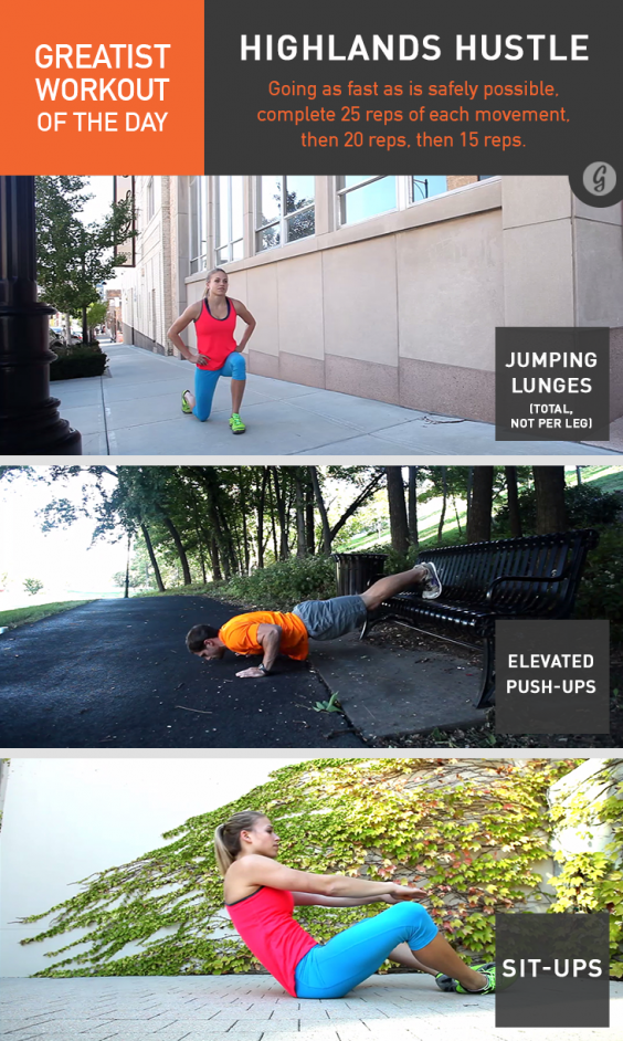 Greatist Workout of the Day: Highlands Hustle