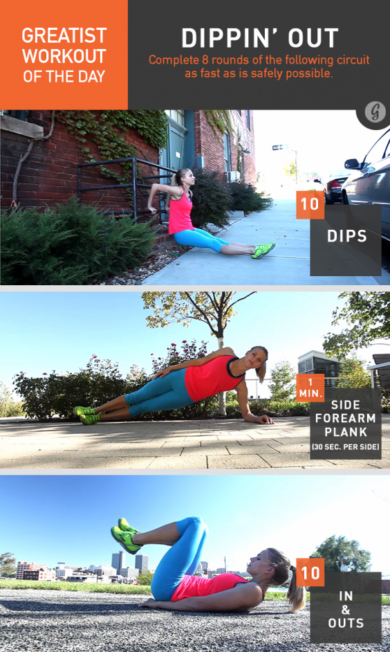 Greatist Workout of the Day: Dippin' Out