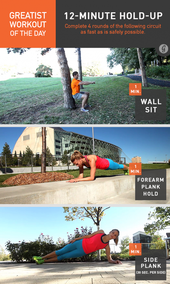 Greatist Workout of the Day: 12-Minute Hold-Up