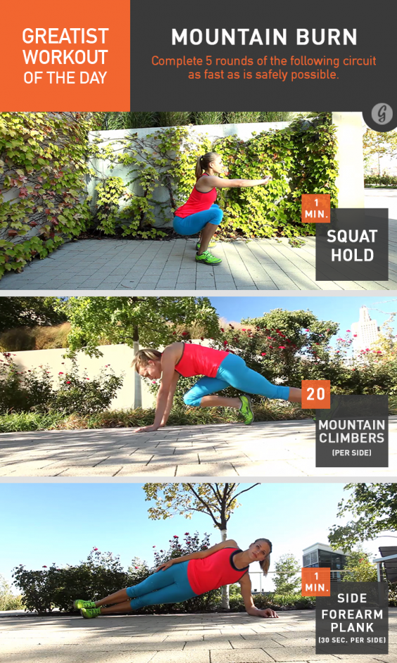 Greatist Workout of the Day: Mountain Burn
