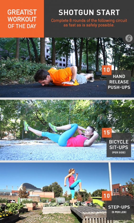 Take on this killer full-body workout you can do anywhere, no equipment required!