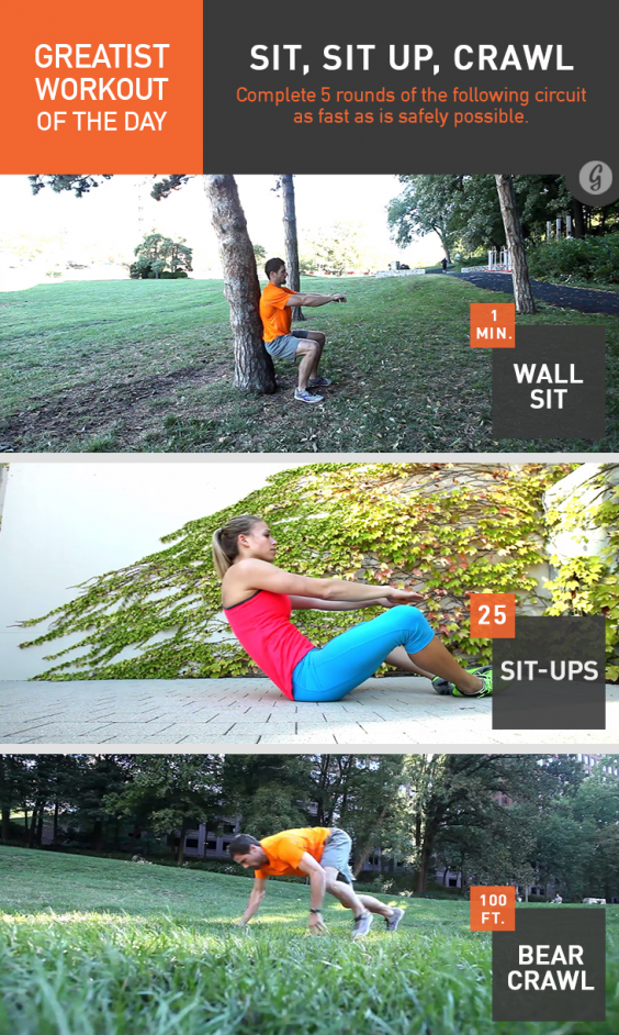 Greatist Workout of the Day: Sit, Sit Up, Crawl