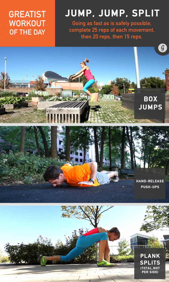 Greatist Workout of the Day: Jump, Jump, Split