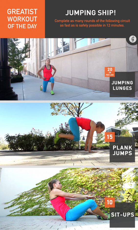 Greatist Workout of the Day: Jumping Ship!