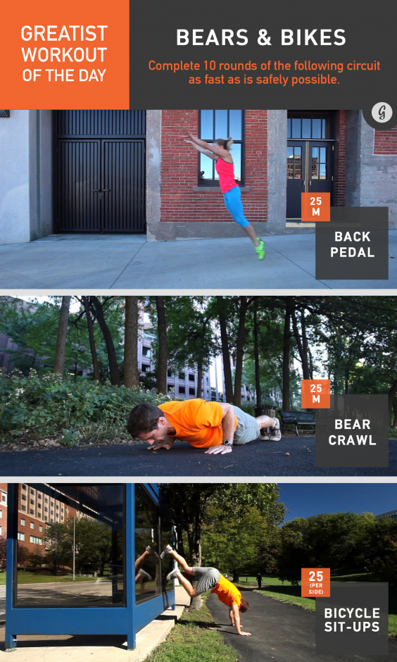 Greatist Workout of the Day: Bears & Bikes