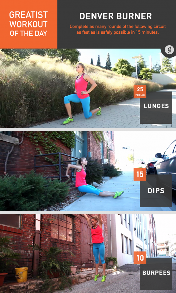 Greatist Workout of the Day: Denver Burner