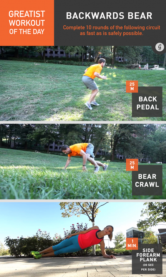 Greatist Workout of the Day: Backwards Bear