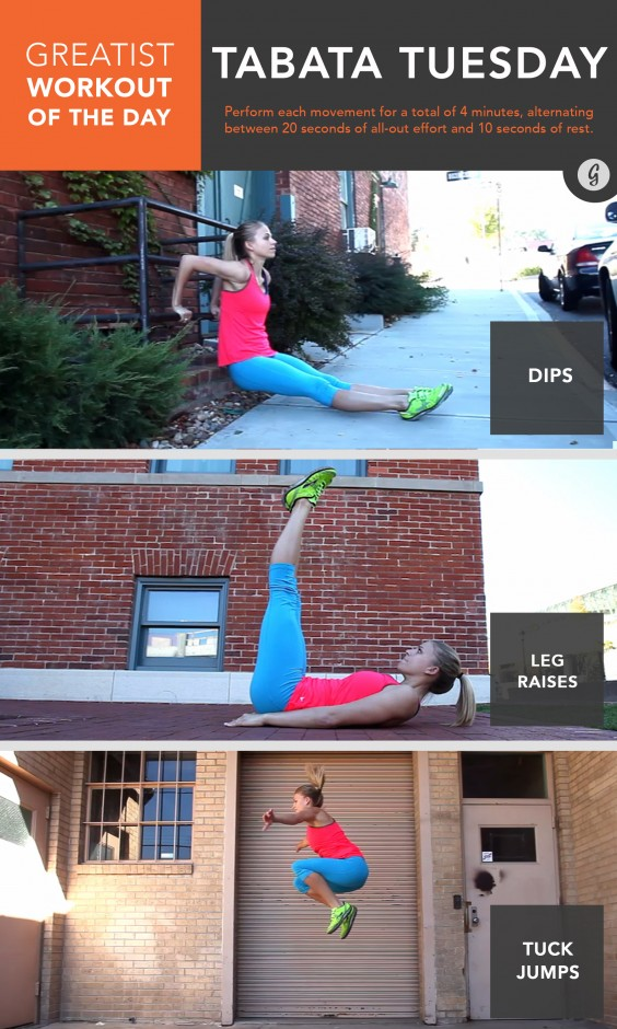 Greatist Workout of the Day: Tuesday, December 1st