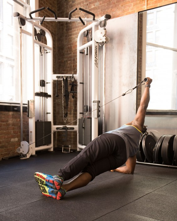 Side Plank with Cable Hold